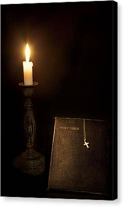 Holy Bible Canvas Print by Bill Wakeley