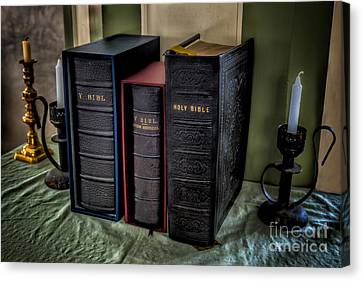 Holy Bibles Canvas Print by Adrian Evans