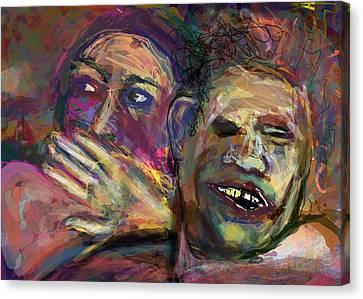 Shock Canvas Print - Holy Crap by James Thomas