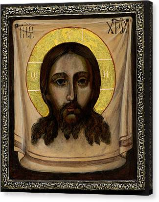 Holy Face Image - Not Made By Hands Canvas Print by Fr Barney Deane
