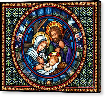 Holy Family Christmas Story Canvas Print
