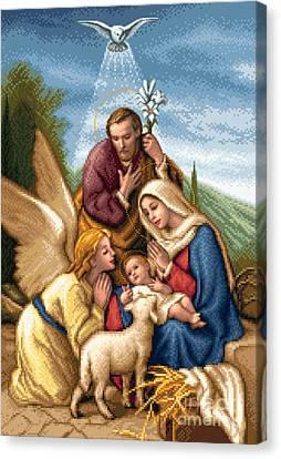 Holy Family Canvas Print by Stoyanka Ivanova