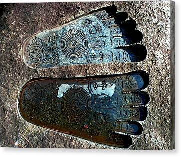 Canvas Print featuring the photograph Holy Feet by Julia Ivanovna Willhite