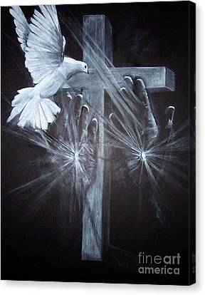 Holy Hands Canvas Print