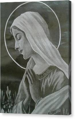 Jesus Christ Icon Canvas Print - Holy Mother by Subhash Mathew