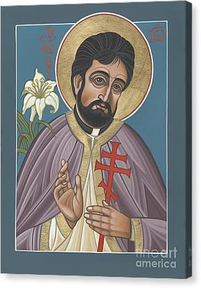 Canvas Print featuring the painting Holy New Martyr Father John Karastamatis Of Santa Cruz 216 by William Hart McNichols