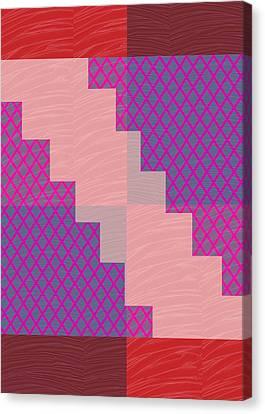 Canvas Print featuring the photograph Holy Purple Diamond Pattern And Silken Light Crystal Across by Navin Joshi