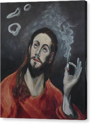 Holy Smoke After El Greco Canvas Print