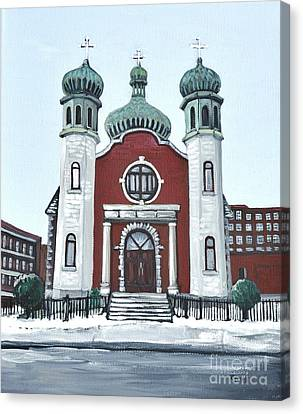 Holy Spirit Ukrainian Catholic Church Pointe St. Charles Canvas Print by Reb Frost