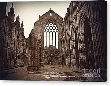 Ruin Canvas Print - Holyrood Abbey by Miryam  UrZa