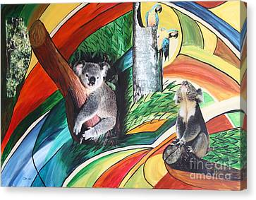 Homage To Franz Marc Canvas Print by Christiane Schulze Art And Photography