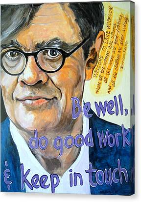 Homage To Garrison Keillor Canvas Print