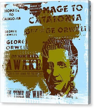 Homage To 'george Orwell' Canvas Print by Jeff Burgess