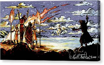 Homage To Hina The Hawaiian Moon Goddess Canvas Print by Keith Tucker
