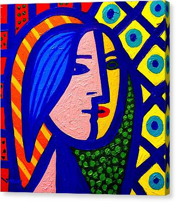 Wine-bottle Canvas Print - Homage To Pablo Picasso by John  Nolan