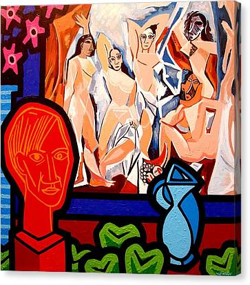 Homage To Picasso I Canvas Print by John  Nolan