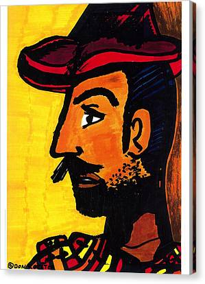 Canvas Print featuring the drawing Hombre by Don Koester