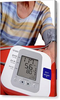Inflatable Canvas Print - Home Blood Pressure Testing by Aj Photo