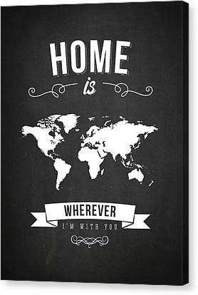 Home - Dark Canvas Print by Aged Pixel