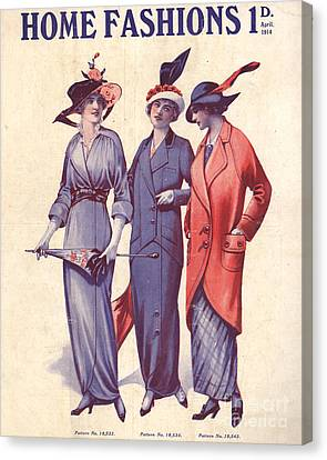 Home Fashion  1917 1910s Uk Womens Canvas Print by The Advertising Archives