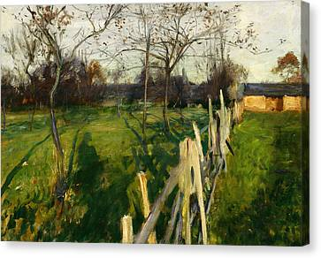 Bare Trees Canvas Print - Home Fields by John Singer Sargent