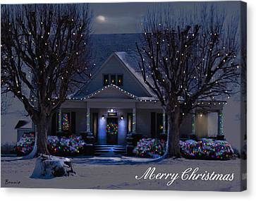 Canvas Print featuring the photograph Home For Christmas by Bonnie Willis