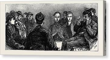 Home For News-boys In The Metropolis Specimens Canvas Print