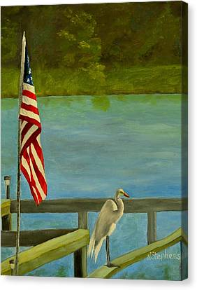 Home For The 4th Canvas Print by Nina Stephens