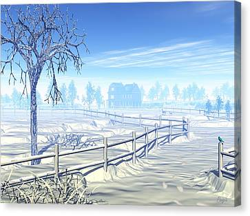 Home For The Holidays Canvas Print by John Pangia