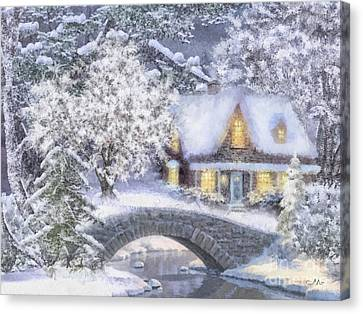 Home For The Holidays Canvas Print by Mo T