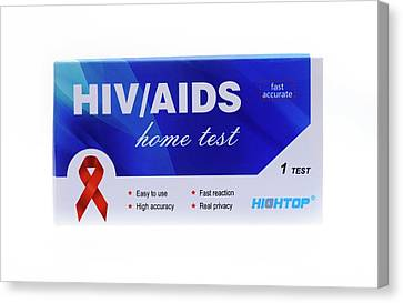 Home Hiv Test Canvas Print by Cordelia Molloy