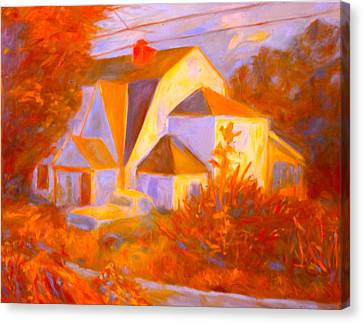 Home In Christiansburg Sketch Canvas Print by Kendall Kessler