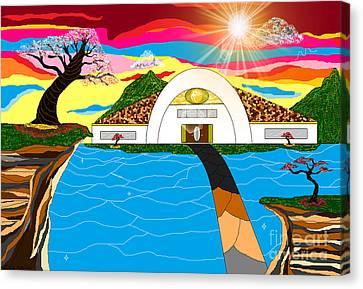 Sun Rays Canvas Print - Home In Paradise by Lewanda Laboy