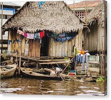Home In Shanty Town Canvas Print by Allen Sheffield
