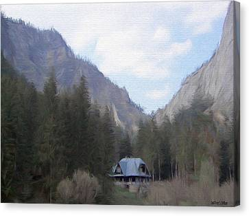 Home In The Mountains Canvas Print by Jeff Kolker