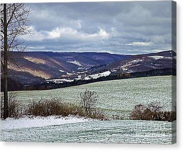 Home In Winter Canvas Print by Christian Mattison