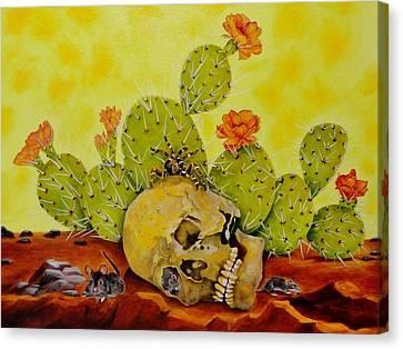 Home Invasion Canvas Print by Carol Avants