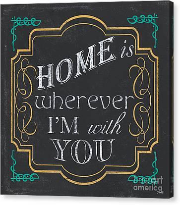 Bible Canvas Print - Home Is... by Debbie DeWitt