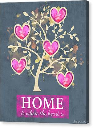 Home Is Where The Heart Is Canvas Print by Jennifer L. Wambach