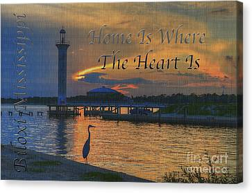 Home Is Where The Heart Is Canvas Print by Maddalena McDonald