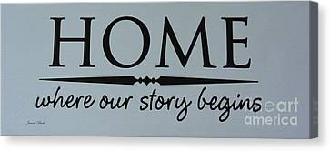 Canvas Print featuring the photograph Home by Jeannie Rhode