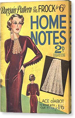 Home Notes 1940s Uk Women At War Womens Canvas Print by The Advertising Archives