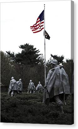 Korean War Memorial Canvas Print - Home Of The Brave by Mitch Cat