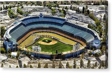 Dodger Stadium Canvas Print - Home Of The Los Angeles Dodgers by Mountain Dreams