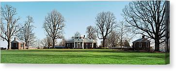 Home Of Thomas Jefferson, Monticello Canvas Print by Panoramic Images