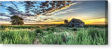 Abandoned Farm House Canvas Print - Home On The Range by Corey Cassaw