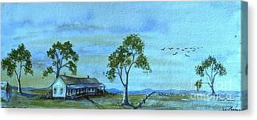 Australian Open Canvas Print - Home On The Range by Leanne Seymour