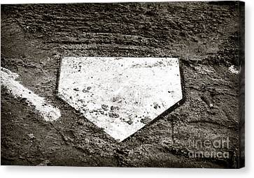 Home Plate Canvas Print by John Rizzuto