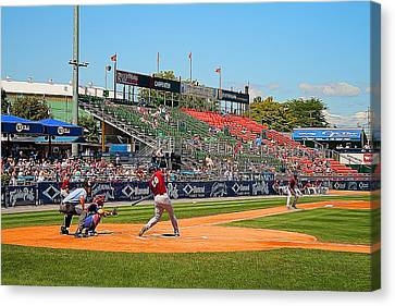 Fightin Phils Canvas Print - Home Run Or Struck Out by Michael Porchik