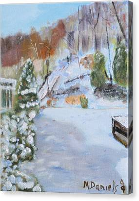 Home Scene South Canvas Print by Michael Daniels